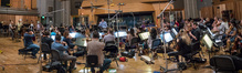 Ramin Djawdi conducts the Hollywood Studio Symphony string section