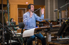 Composer Ramin Djawadi conducts the orchestra