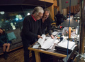 Composer Bruce Broughton and music librarian Joe Zimerman go through the cues