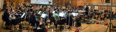 Composer/conductor Bruce Broughton records a cue for Seth MacFarlane's <i>The Orville</i> with the orchestra