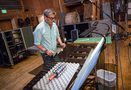 Percussionist Bob Zimmitti performs on marimba