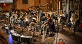 The brass section performs on <em>Pirates of the Caribbean: Dead Men Tell No Tales</em>