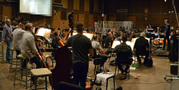 The Hollywood Studio Symphony records a cue with conductor/orchestrator Tim Davies