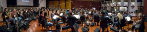 The orchestra records the Alexander Courage theme for composer/conductor Jeff Russo's score for <i>Star Trek: Discovery</i>
