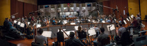The view of the <i>Star Trek: Discovery</i> sessions from the back of the orchestra