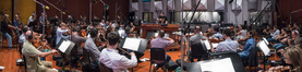 Conductor James Sale and the orchestra record a cue for <i>Transformers: The Last Knight</i>