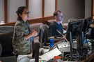 Audio engineer/studio manager Lori Castro and ProTools recordist Kevin Globerman