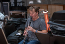 Stuart Clark performs on clarinet