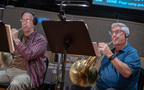 Mark Adams and Dave Everson perform on French horn