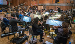 Tim Williams conducts the strings on <em>The Darkest Minds</em>