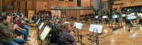The brass scoring session for <em>The Darkest Minds</em>