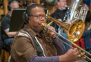 Trombonist John Lofton performs on <em>The Darkest Minds</em>
