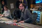 Scoring mixer Gustavo Borner adjusts the mix of the choir