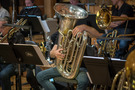 Tuba player Doug Tornquist (obscured)