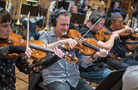 Brian Dembow and the violas perform on <em>Deadpool 2</em>