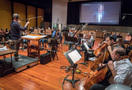 Blake Neely and the orchestra