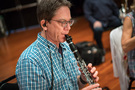 Chris Bleth plays the clarinet