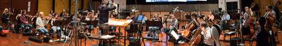 Blake Neely conducts the Hollywood Studio Symphony on <em>Deception</em>