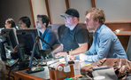 Pilot co-composer Sherri Chung, scoring assistants Raashi Kulkarni and Murat Selçuk, ProTools operator Jeremy Underwood, and Cow on the Wall studio manager Thor Fienberg