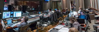 Inside the booth at Warner Bros. for <em>Game Night</em>