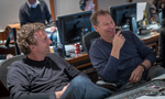 Co-director Jonathan Goldstein and composer Cliff Martinez share a laugh
