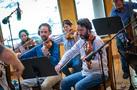 The violas perform on <em>House of Cards</em>