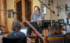 Composer Jeff Beal gives some feedback on a cue