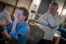Composer Nathan Barr and scoring mixer Peter Cobbin