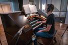 Mark Herman performs on organ