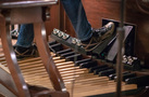 The bass pedals on the Wurlitzer organ