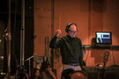 Marshall Bowen conducts the Hollywood Studio Symphony on <em>Incredibles 2</em>