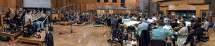 The Hollywood Studio Symphony records a cue for <i>Maze Runner: The Death Cure</i> with orchestrator/conductor Nolan Livesay