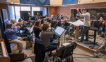 The Hollywood Studio Symphony string ensemble on <em>A Quiet Place</em>