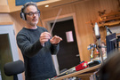 Composer Marco Beltrami conducts on <em>A Quiet Place</em>