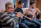 Dave Washburn, Barry Perkins and Bryce Schmidt on trumpets