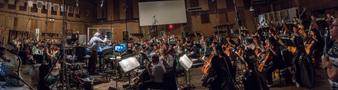 Conductor/orchestrator Nicholas Dodd records with the Hollywood Studio Symphony
