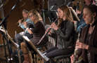 The woodwinds: Jenni Olson and Geri Rotella on flute, Jessica Pearlman Fields on oboe, and Lara Wickes on English horn