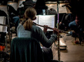 Flutist Jenni Olson performs