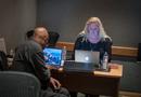 Music librarian Booker White and scoring consultant Celeste Chada