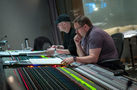Composer Andrew Lockington and scoring mixer Andrew Dudman follow along with the score