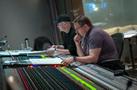 Composer Andrew Lockington and scoring mixer Andrew Dudman follow along with the score