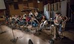 The brass section on <em>Rampage</em>