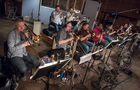 The brass section performs on <i>Rampage</i>