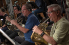 The French horns perform on <em>Rampage</em>