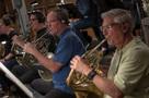 The French horns perform on <em>Rampage</em>