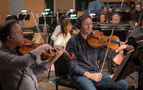 The viola section performs on <i>Rampage</i>