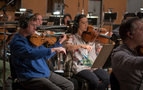 Violas perform on <em>Rampage</em>