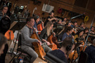 The cello section records a cue for <i>Rampage</i>