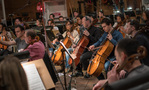 The cello section on <em>Rampage</em>'s low string session