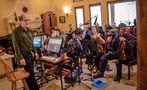 Composer Jeff Beal about to record his music for <em>Shock and Awe</em> with a string ensemble